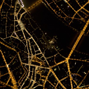 Noční letecké snímky
