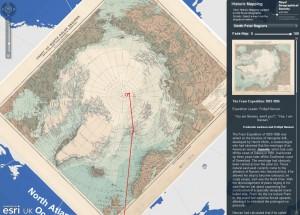 Historicka mapa severniho polu