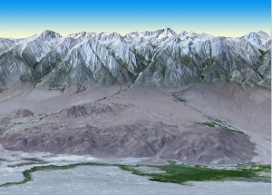 Mt. Whitney v pohoří Sierra Nevada, zdroj: http://www.jpl.nasa.gov