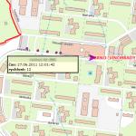 Sledování vozidel MP Brno - detail, zdroj: T-MAPY