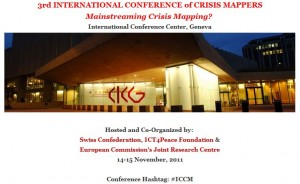 ICCM 2011, zdroj: http://crisismappers.net/page/iccm-geneva-2011