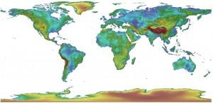 GMTED2010, zdroj: USGS
