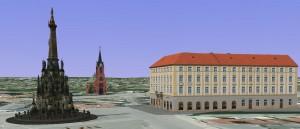 Horní náměstí v Olomouci, zdroj: Google Earth