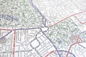 Typografické mapy - Londýn, zdroj: axismaps.co.uk