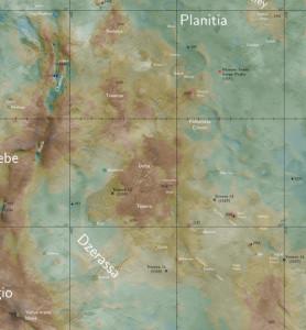 Ukázka mapy Venuše