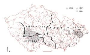 Rozsvítit či rožnout, zdroj: Český jazykový atlas
