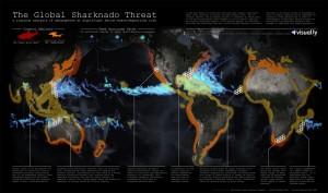 Mapa ohrožení světa žralokonády, autor:  John Nelson, zdroj: visual.ly