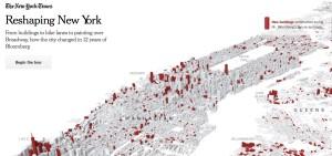 Úvodní strana vizualizace změn v New Yorku