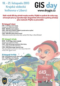 Poster k Dnům GIS 2013 v Liberci