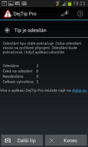 Ukázka prostředí DejTip
