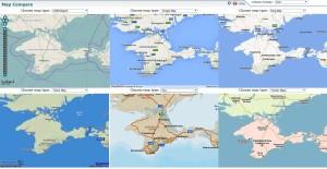 Srovnání vybraných mapových serverů nad oblastí poloostrova Krym
