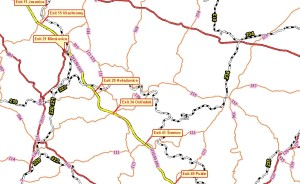 Pohled na podkladovou mapu z r. 2005