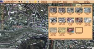 Ukázka z nové aplikace Historické mapy z Ústí nad Labem