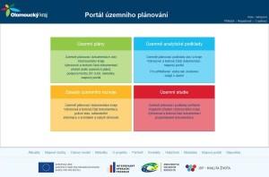 Přístup do portálu územního plánování Olomouckého kraje