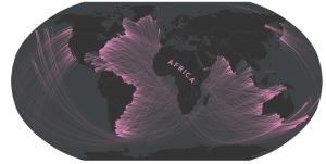 Jaký kontinent byste teoreticky viděli z různých míst Afriky?