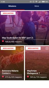 Ukázka mobilní aplikace MapSwipe
