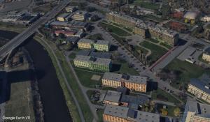 Kampus olomoucké univerzity v Google Earth VR