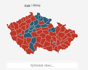 mapy na webu Hospodářských novin